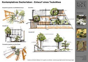 Entwurfsbeispiel für einen Innenhof